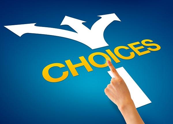 Choices smaller